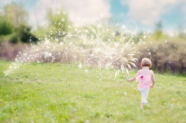 Little Girl, Magic, Glitter Trail, Enchanting, Summer