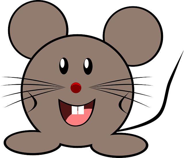 Mouse, Grey, Little, Animal, Cute, Happy, Brown Mouse