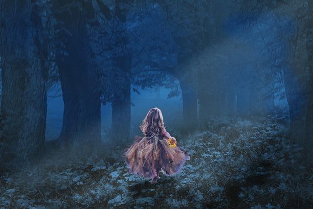 Little Kid, Girl, Walk, Flower Hold In Hand, Forest