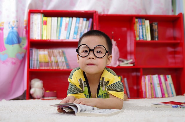 Boy, Reading, Book, Glasses, Books, Baby, Kids, Little