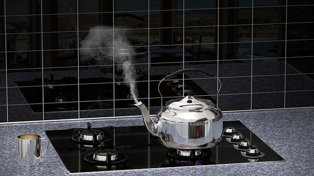 Kitchen, Live, Tea Kettles, Reflections, Modern