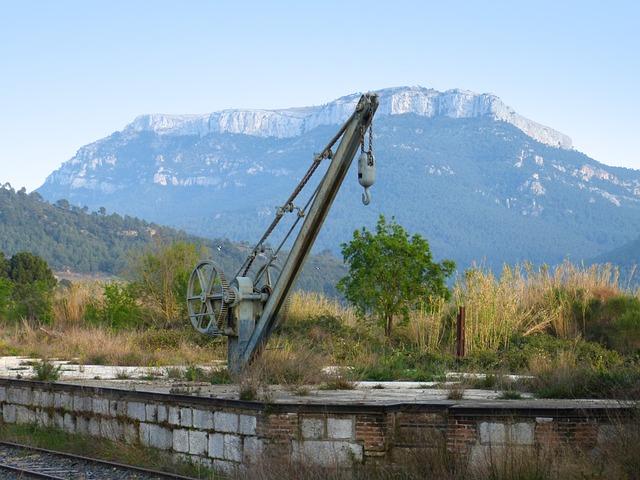 Crane, Train, Railway, Old, Rusty, Abandoned, Load