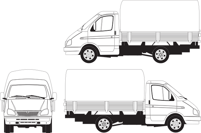 Gas, Gazelle, Awning, Body, Truck, Load, Vector