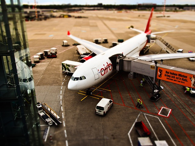 Airfield, Aircraft, Departure, Loading, Airport
