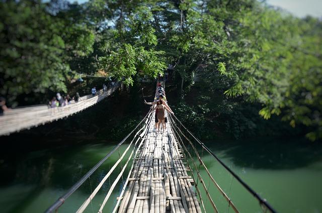Loboc River Bridge, Bamboo Bridge, Bohol Bridge
