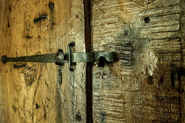 Door, Wood, Lock, Iron, Cast Iron, Former, Nails