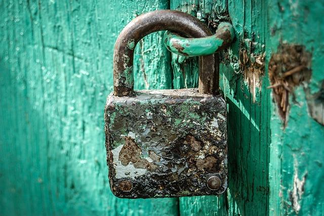 Padlock, Locked, Old, Close, Hack, Rust