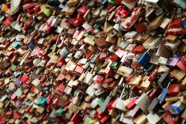 Love Locks, Locks, Padlocks, Love Symbol, Closeup