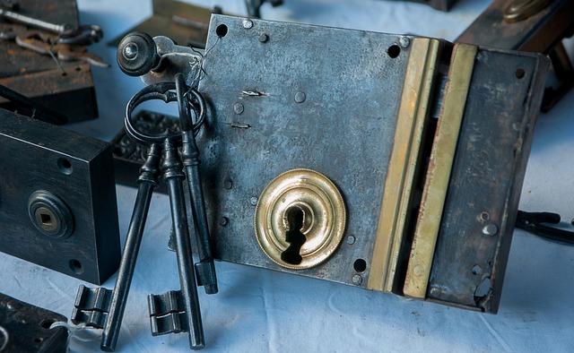 Flea Market, Lock, Key, Keychain, Locksmith