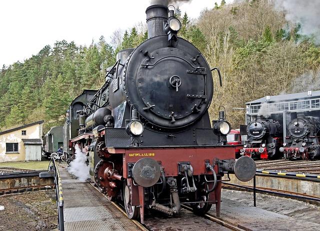 Bahnbetriebswerk, Hub, Locomotive Shed