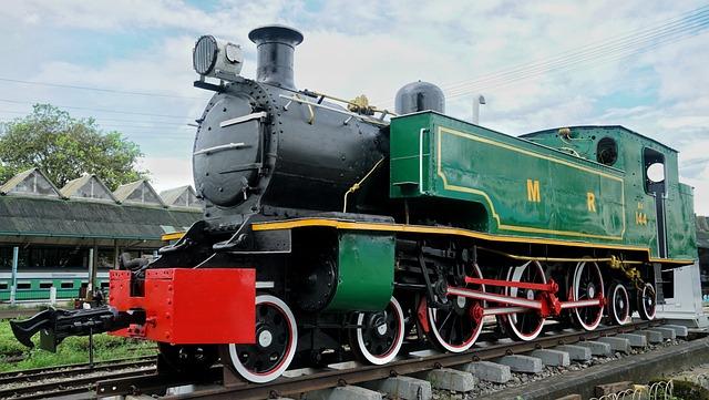 Train, Vintage, Steam, Locomotive, Yangon, Myanmar