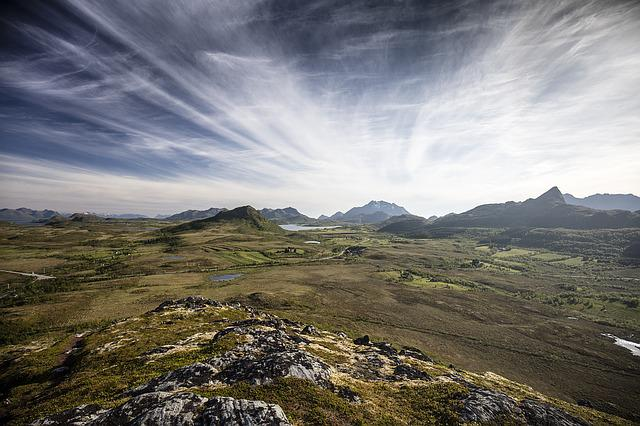 Norway, Lofoten, Scenery, Mountain, Landscape