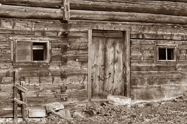Log Cabin, Vacation, Wood, Brown, Hut, Barn