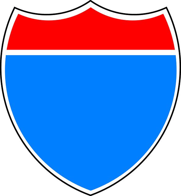 Sign, Road, Interstate, Highway, Logo, Blank, Shield