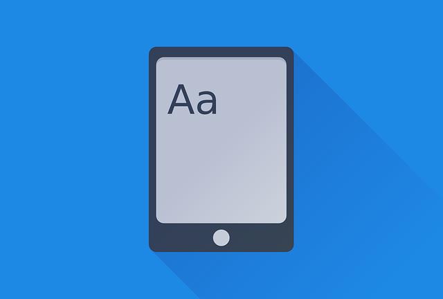 Ebook, Book, Kindle, Logo, Blue, Letters, Flat