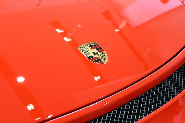 Porsche, Auto, Car, The Vehicle, Stamp, Logo, Grill