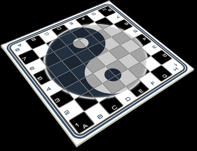 Chess, Board, Game Of Table, Logo Yin Yang