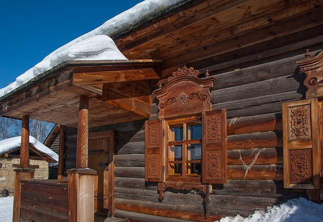 Siberia, Irkutsk, Logs, Wooden House