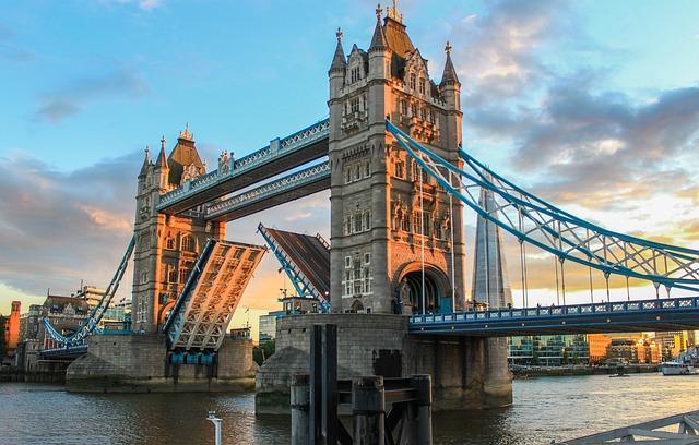 Tower Bridge, London, Evening, Abendstimmung, Sunset