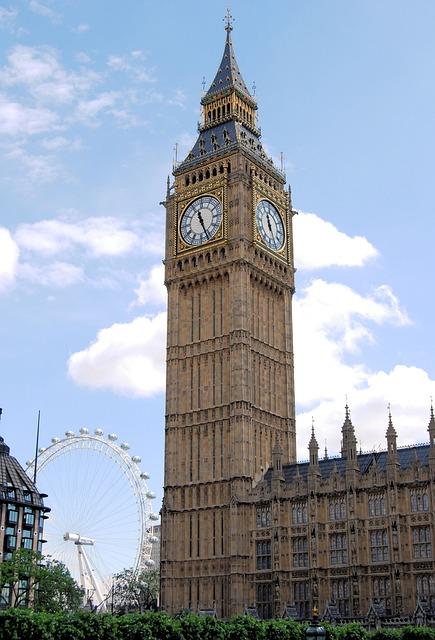 Big, Ben, London, Eye, Westminster Abbey, England