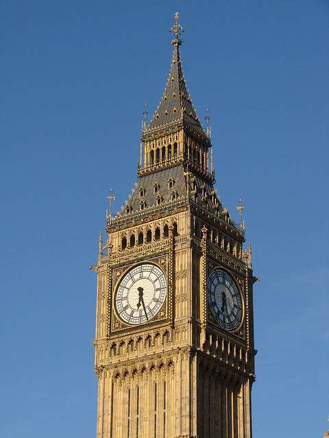 United Kingdom, Clock, Clock Tower, London, England