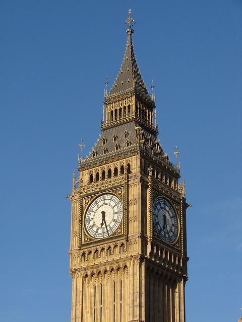 United Kingdom, Clock, Clock Tower, London, England