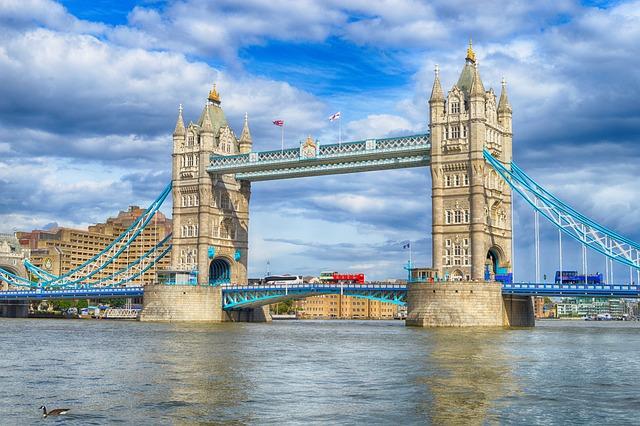 Tower, Bridge, London, Thames, England