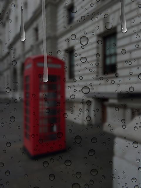 Rain, London, Wet, Weather, Drops Of Rain, Raindrop