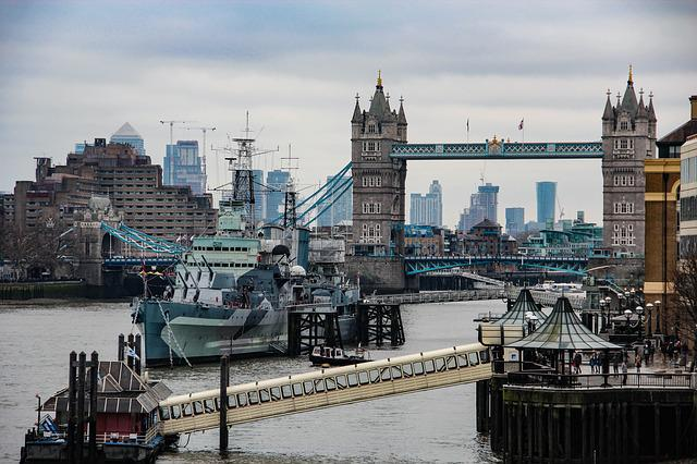 Big City, River, Waters, Travel, Architecture, London