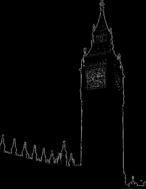 London, Tower, Building, Silhouette, England, Britain