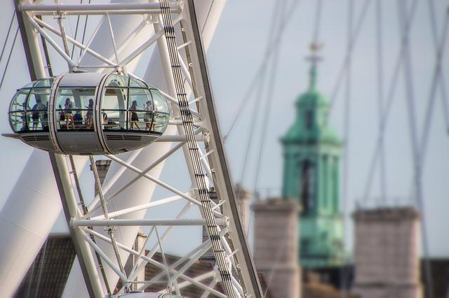 London, Britain, London Eye, Sky, Toruristik, Landmark