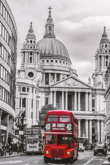 London, Bus, St Paul's, St Paul's Cathedral