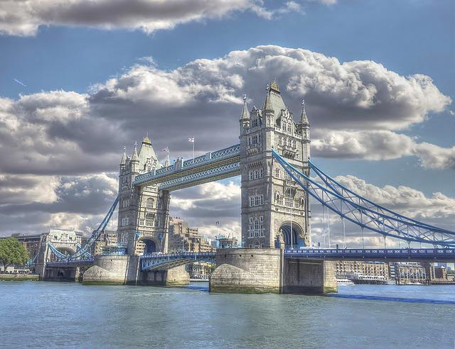 Tower Bridge, London, England, Thames, River, Bascule