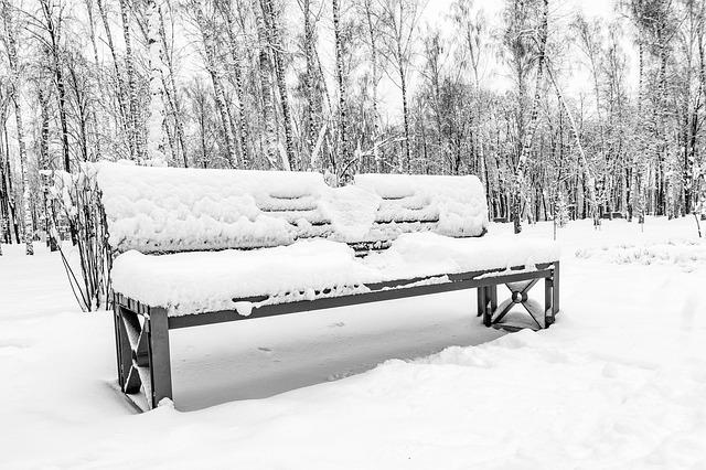 Snow, Winter, Coldly, Wood, Frozen, Bench, Loneliness