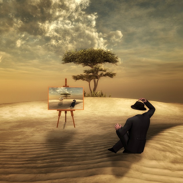Sand, Loneliness, Man, Headless, Moments, Tree, Fantasy