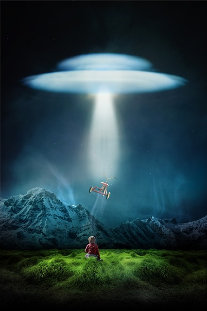 Child, Alone, Ufo, Third Kind, Evening, Lonely