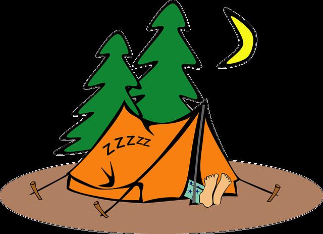 Camping, Humor, Tent, Humorous, Sleeping, Loner