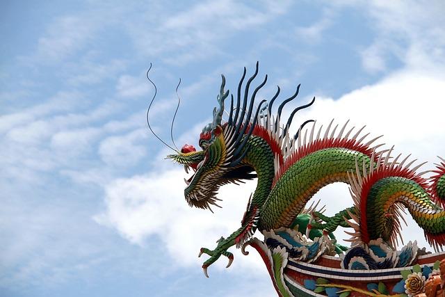 Long, Color, Sky, A Surname, China, Si 廟, 頂, Sculpture