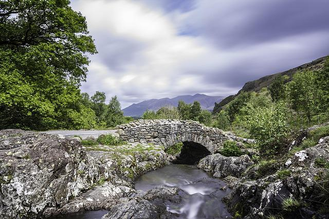 Bridge, Water, Lake District, Long Exposure