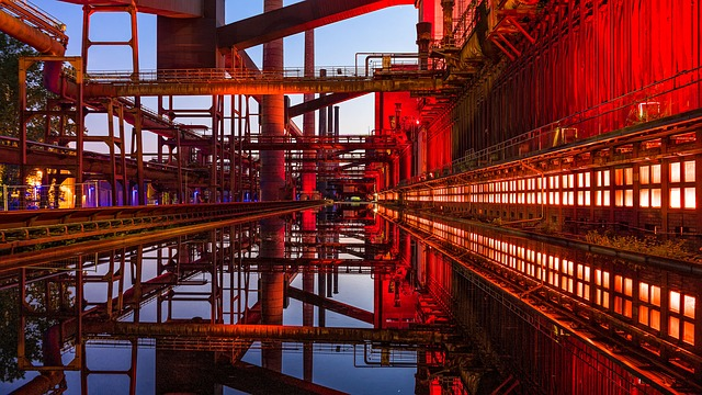 Zollverein, Night Photograph, Long Exposure, Night