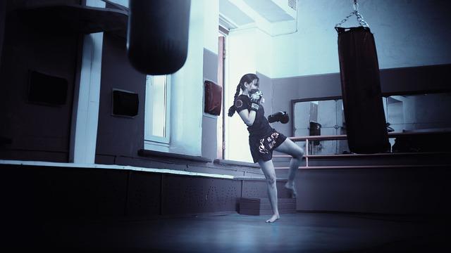 Kickboxer, Girl, Kickboxing, Athletic Girl, Long Hair