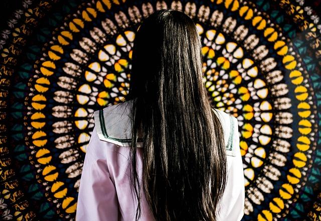 Model, Twins Exhibition, Shenzhen, Long Hair, Brunet