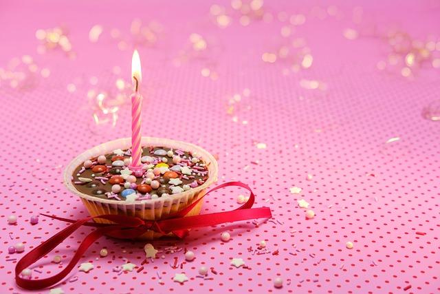 Muffin, Cake, Tart, Birthday, Candle, Loop, Sweet
