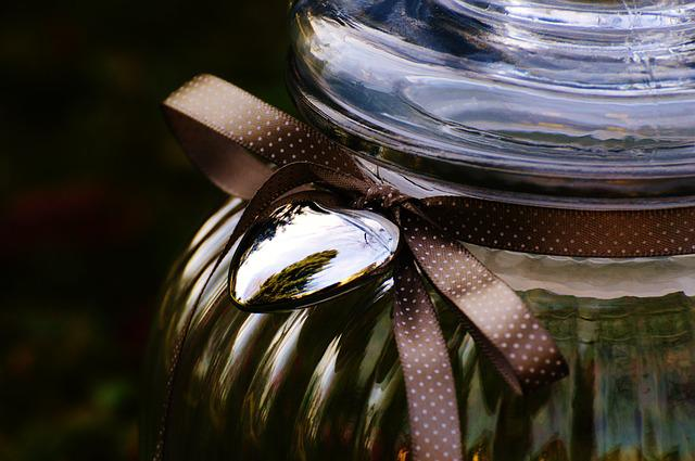 Candy-glass, Glass, Heart, Loop, Vessel, Storage