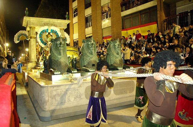 Spain, Lorca, Parade, Cleopatra, Egypt, Holy Week