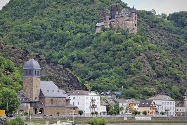 Lorelei, Loreley, Stadt, Rhine, Rhone, River, Cruise