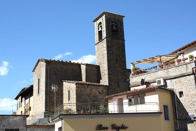 Loro Cuiffenna, Tuscany, Church, Architecture, Italy