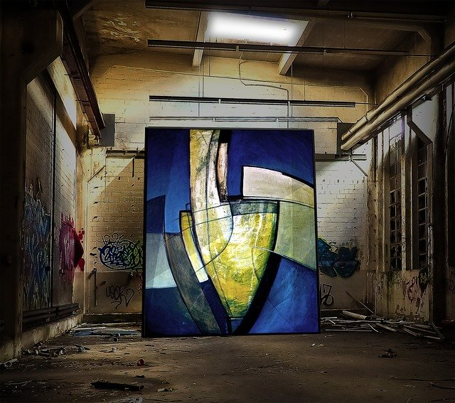 Painting, Factory Building, Ruin, Lost Place