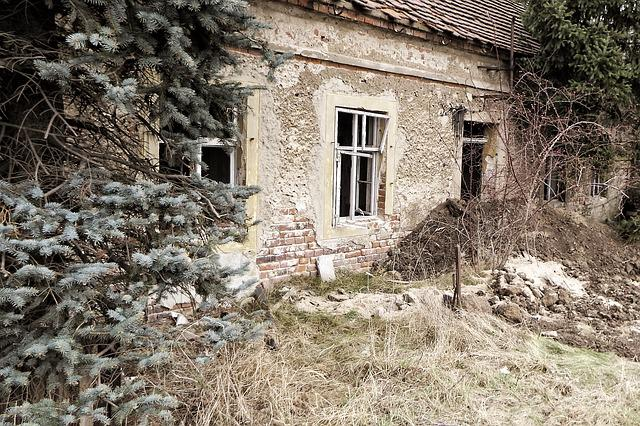 Lost Places, Home, Old, Ruin, Building, Facade, Leave
