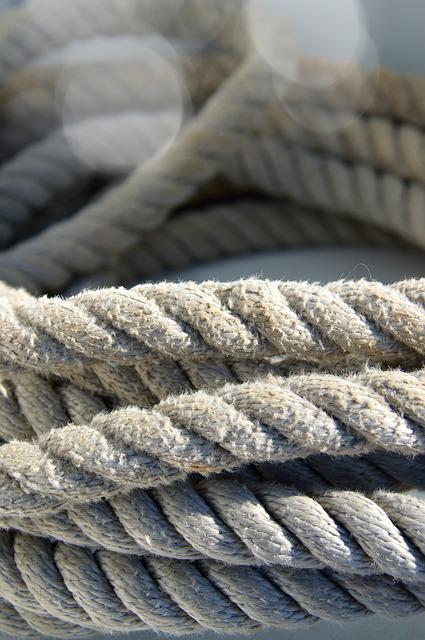 Rope, Lot Of, Marine, Closeup, Industry, Strong, Safety